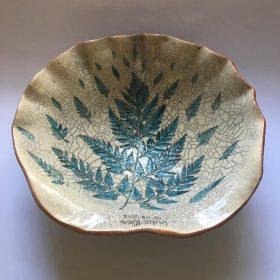 belly bowl cape town_green fern raku top